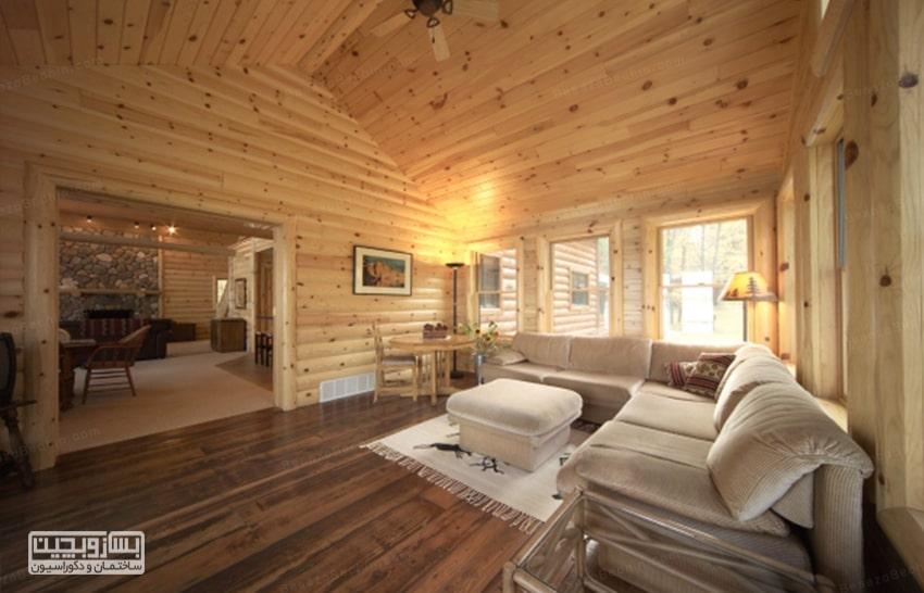 دیوارپوش چوبی ساده و ارزان