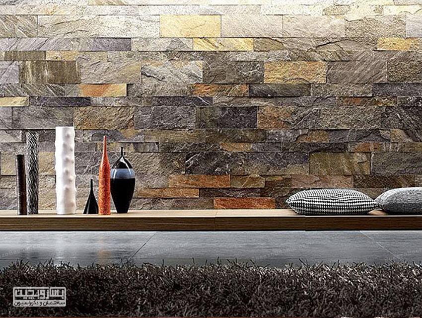 دیوارپوش سنگی مدرن و لوکس