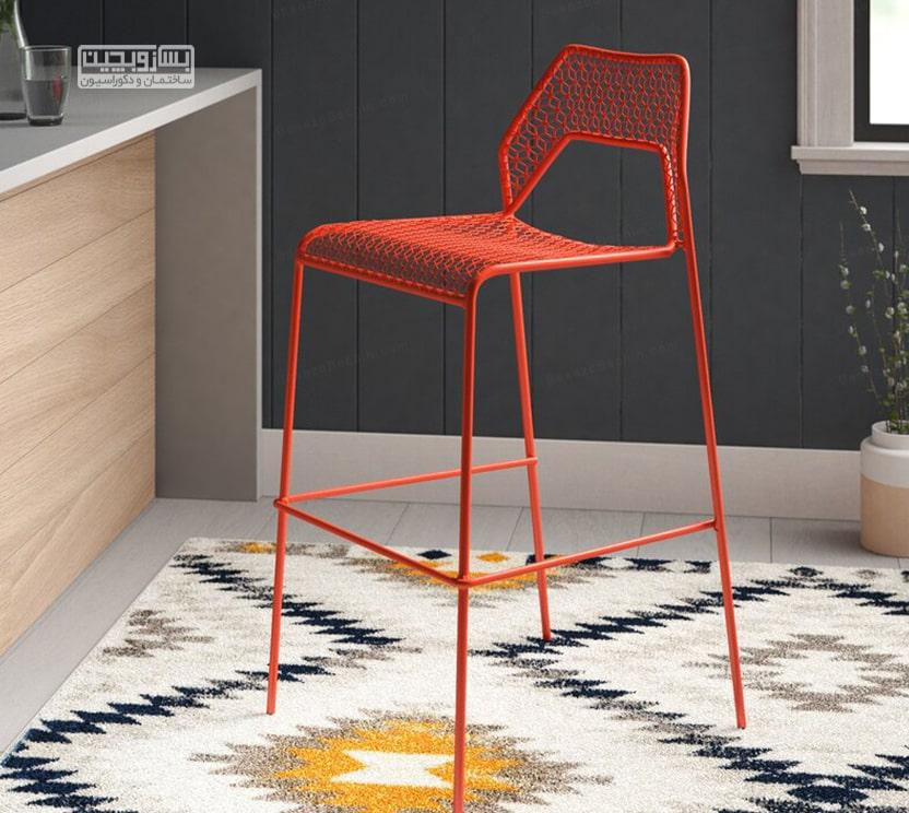 بهترین و لوکس ترین صندلی رنگی اپن آشپزخانه