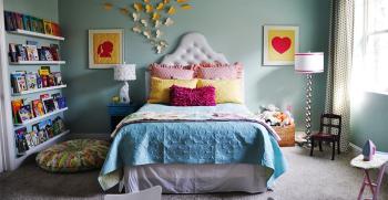 دکوراسیون اتاق خواب دخترانه + 11 ترفند خلاقانه