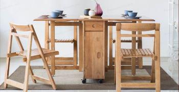 میز ناهار خوری تاشو چیست؟ قیمت، انواع و مدل های جدید 2021