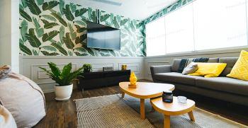 مدل جدید کاغذ دیواری پشت تلویزیون با طرح های شیک و لاکچری