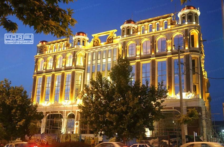 نورپردازی در نمای ساختمان های شیک