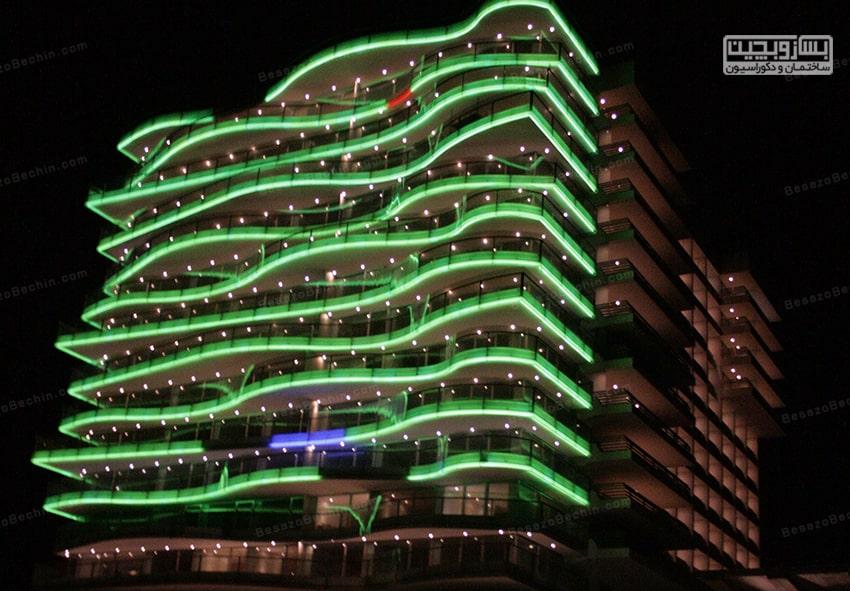 نورپردازی در نمای ساختمان 2020