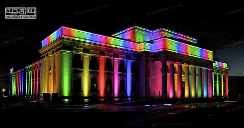 نورپردازی نمای ساختمان تاریخی