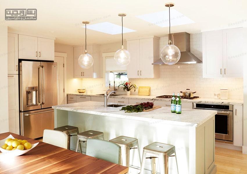 طراحی اصولی نورپردازی آشپزخانه