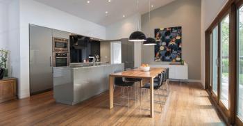 طراحی نورپردازی اتاق غذاخوری و آشپزخانه مدرن + 20 مدل شیک