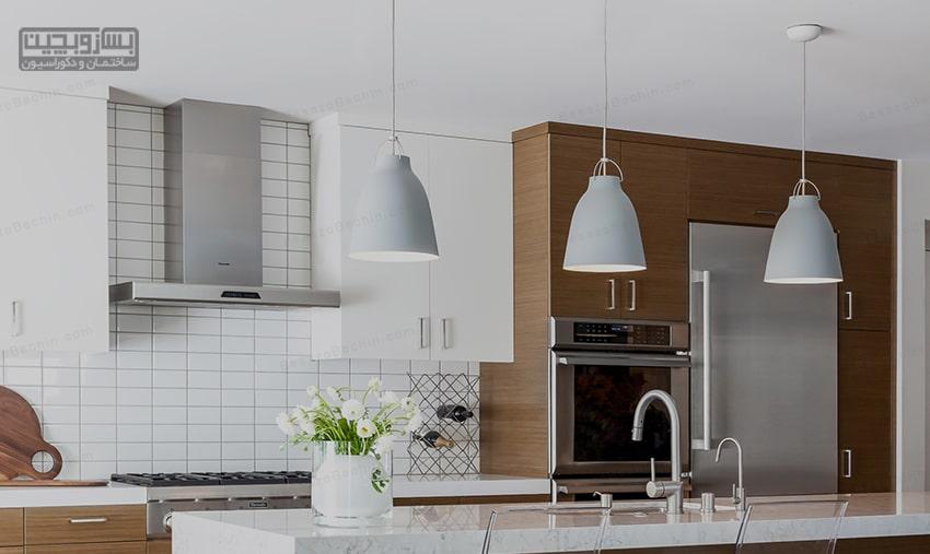 نورپردازی شیک آشپزخانه
