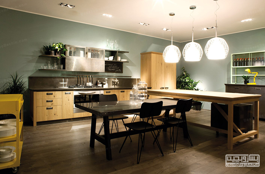 نورپردازی آشپزخانه شیک