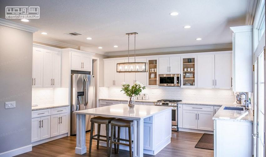 نورپردازی جذاب آشپزخانه