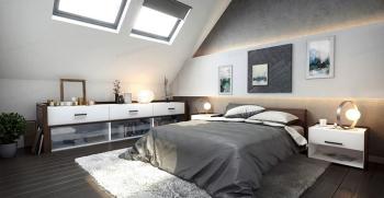 20 نمونه جذاب از دکوراسیون داخلی اتاق خواب زیرشیروانی