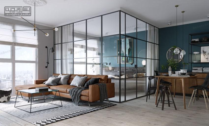 فواید پارتیشن شیشه ای در دکوراسیون داخلی