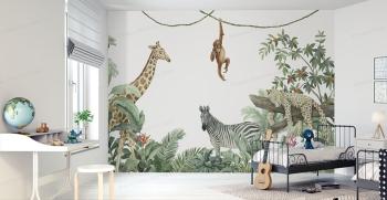 جدیدترین مدل های کاغذ دیواری اتاق کودک + 30 طرح دخترانه و پسرانه