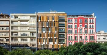 انواع نمای بیرونی ساختمان مسکونی در ساختمان های چند طبقه لاکچری + تصاویر و ویدیو