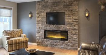 مدل سنگ آنتیک پشت تلویزیون دیوار منزل + مدل های متنوع