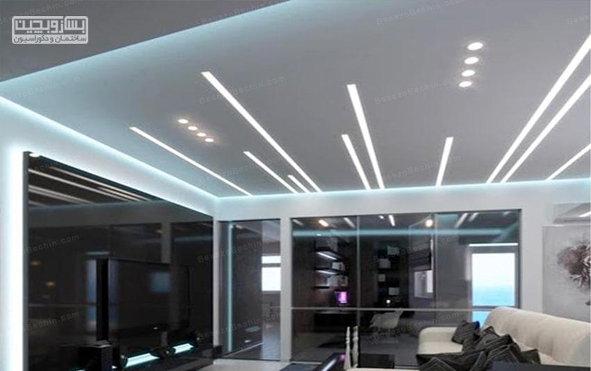نورپردازی سقف پذیرایی