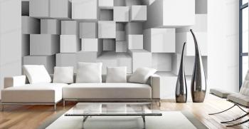 طرح های جدید کاغذ دیواری سه بعدی [پذیرایی و اتاق خواب]