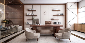 بهترین طراحی دکوراسیون دفتر کار + اصول طراحی مدرن محیط کار [شیک و لاکچری]