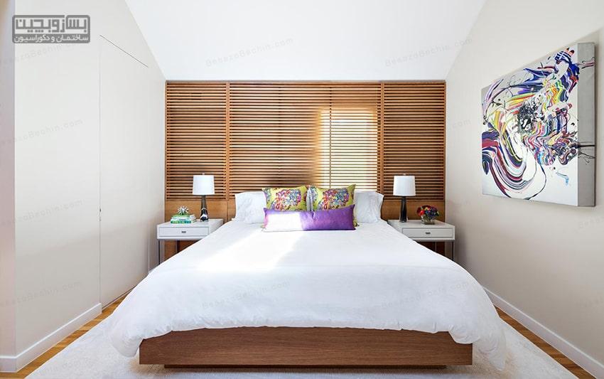 رنگ در دکوراسیون اتاق خواب کوچک