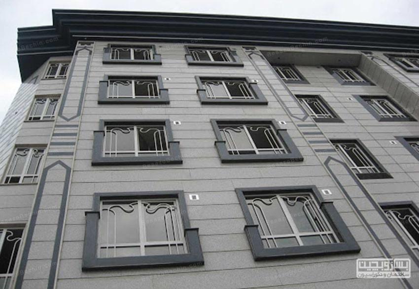 نمای سنگ دور پنجره