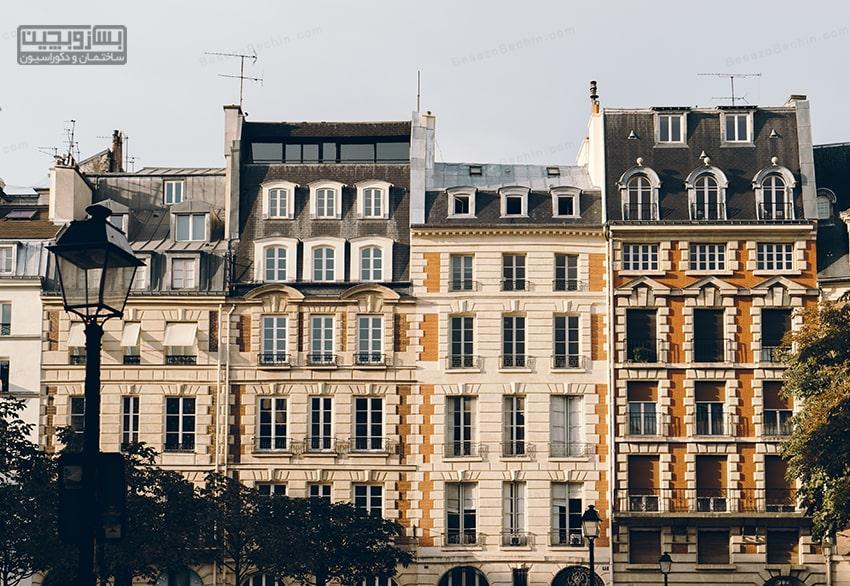 نمای ساختمان ویلایی کوچک