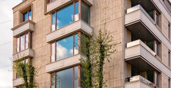 نمای سنگی ساختمان مسکونی از یک تا سه طبقه + تصاویر