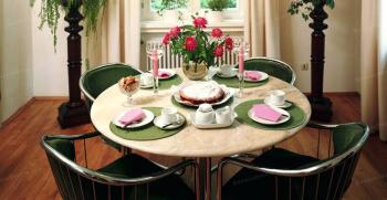 تزیین میز ناهار خوری (2نفره ، 4 نفره ، 6 نفره و..) | روی میز ناهار خوری چی بزارم ؟