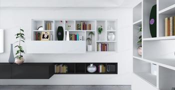 44 مدل کتابخانه دیواری ساده و لاکچری جدید 2021