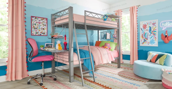 عکس تخت خواب دو طبقه دخترانه جدید 2020