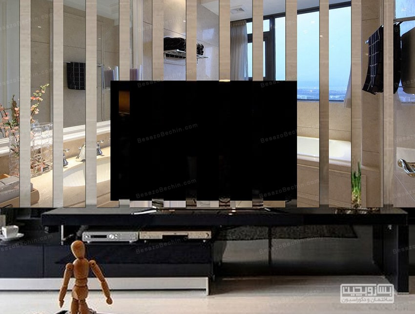 تزیین دیوار پشت تلویزیون با استیکر