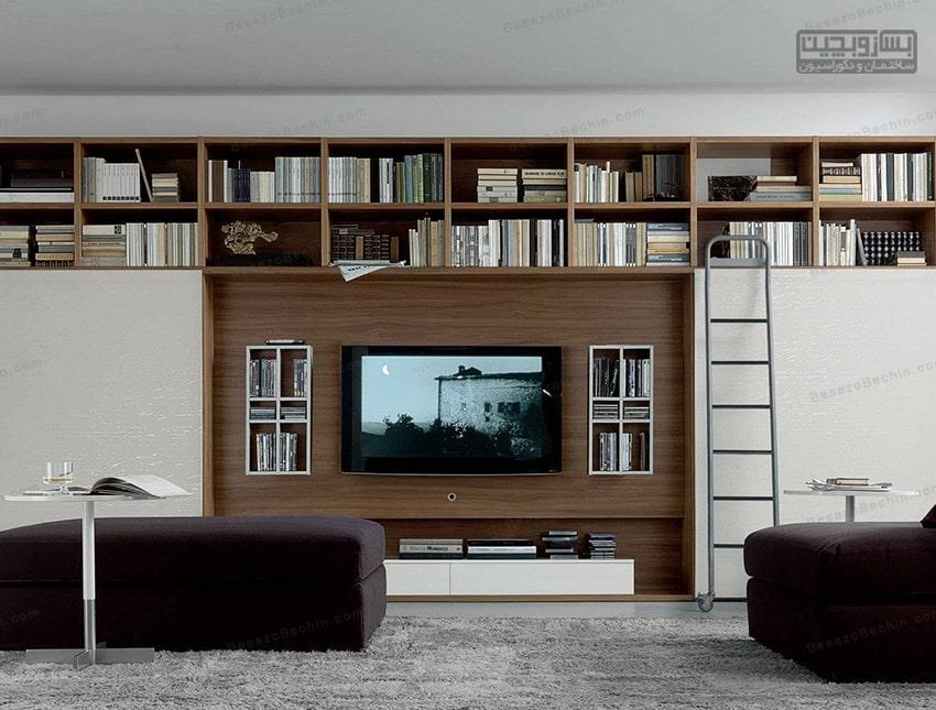 دیوارپشت تلویزیونرا چگونه طراحی کنیم
