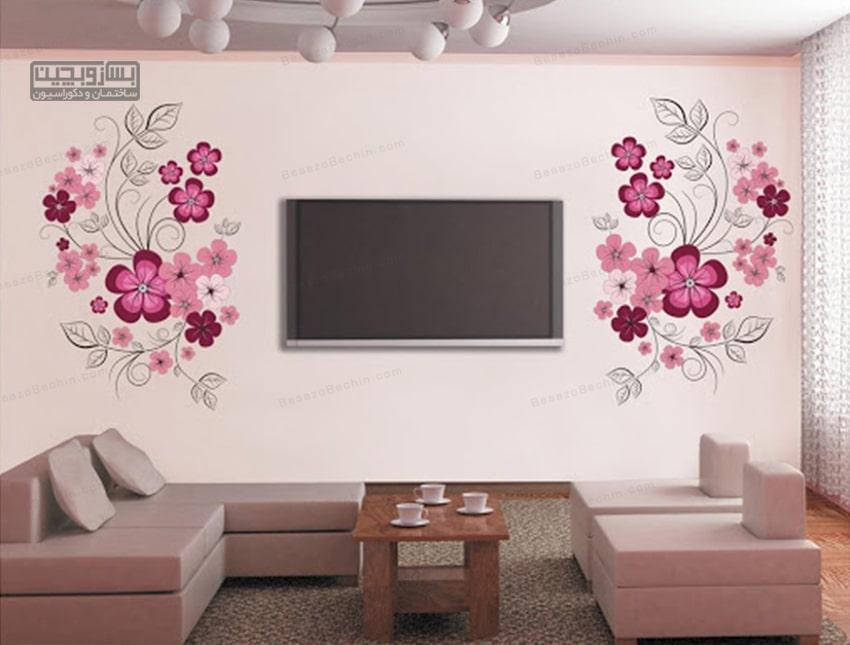 نصب تلویزیون در کنج دیوار