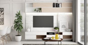 بهترین مدل های میز تلویزیون دیواری برای خانه کوچک