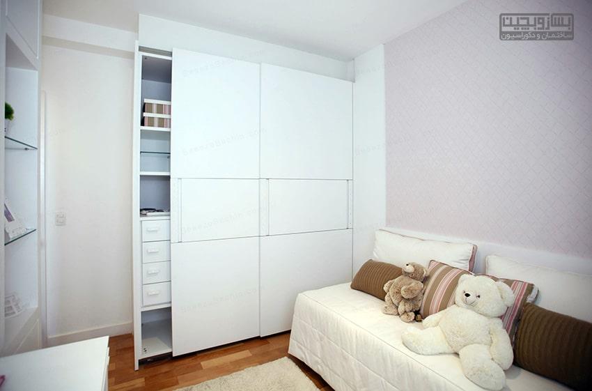کمد دیواری اتاق کوچک