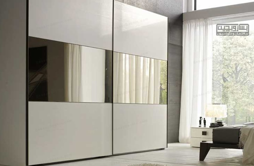 کمد دیواری سفید طلایی