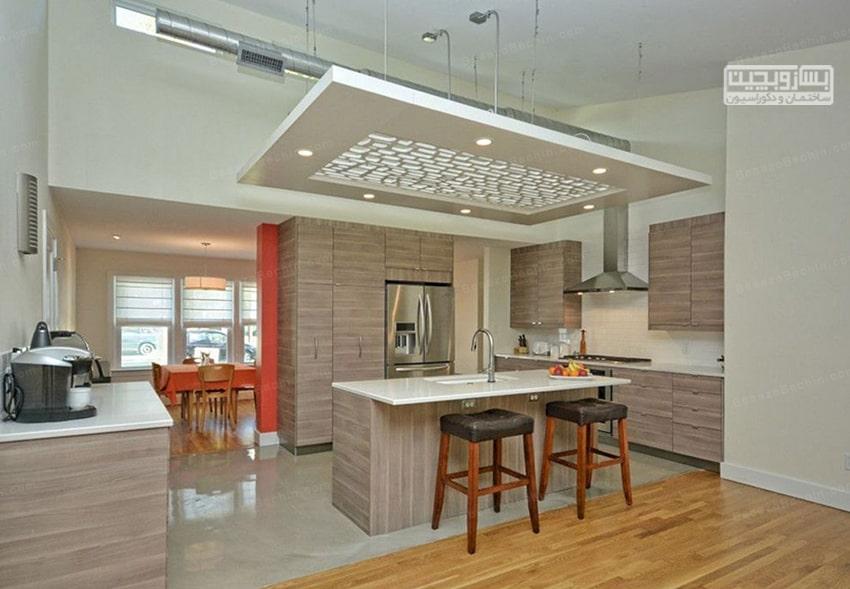 طراحیسقف آشپزخانهبا چوب