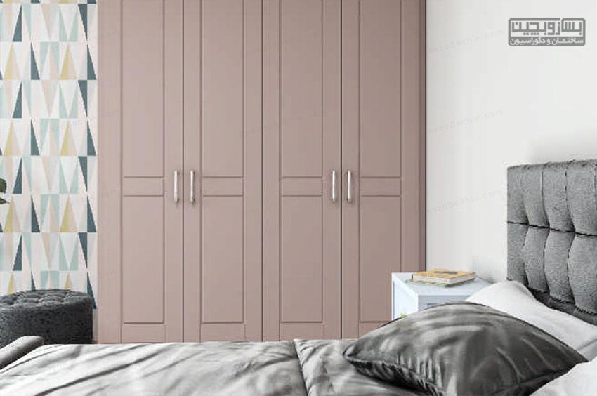 رنگ صورتی برای کمد دیواری اتاق خواب