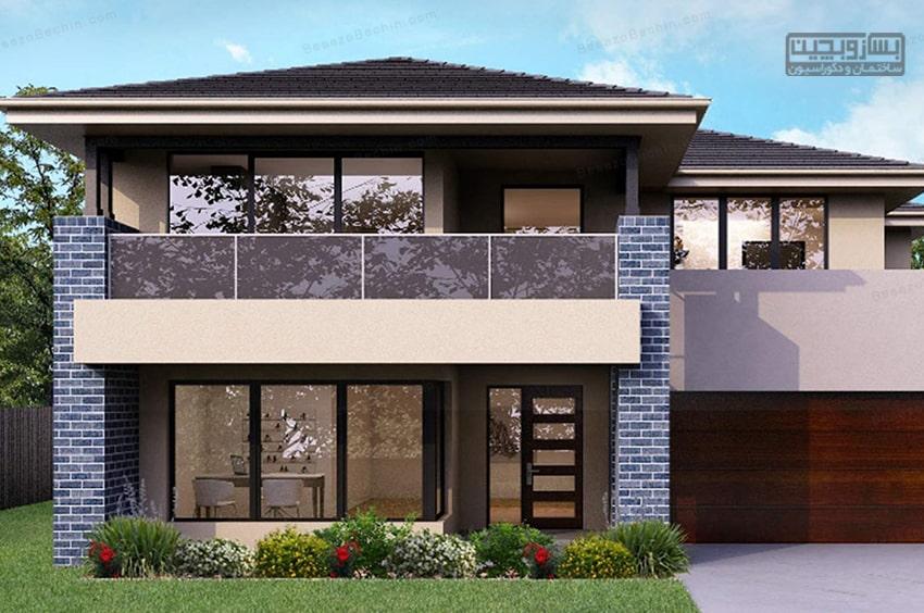 معمارینمای ساختمان دو طبقه