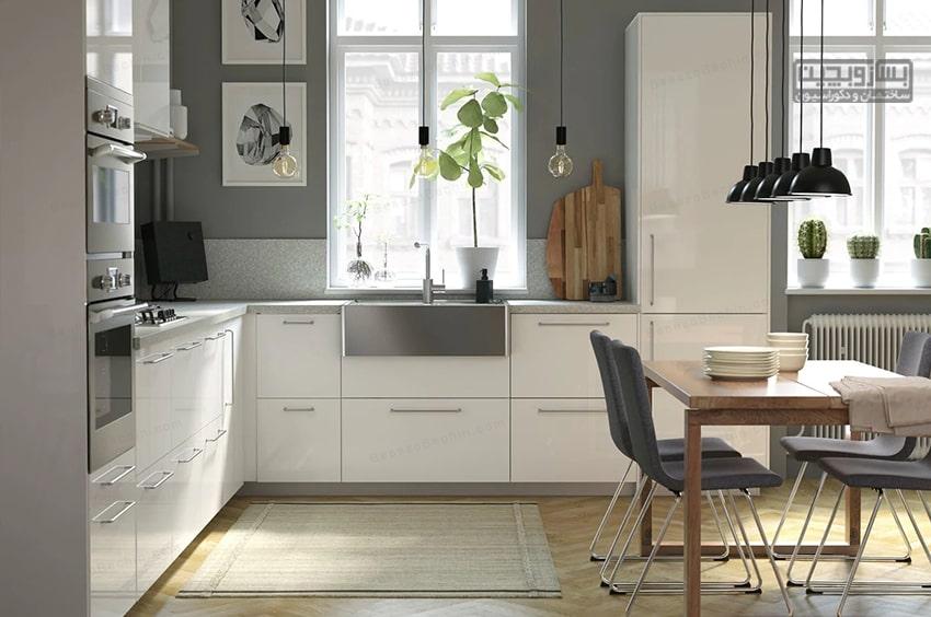 طراحی کابینت برای آشپزخانه 9 متری