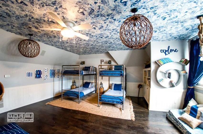 اتاق خواب پسرانه فوتبالی