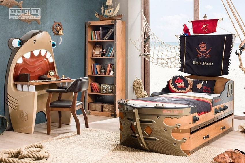 دکوراسیون اتاق خواب پسرانهبا وسایل ساده