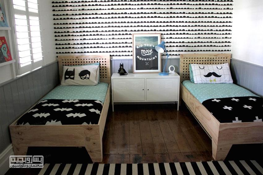 دکوراسیون داخلی اتاق خواب پسرانه فوتبالی