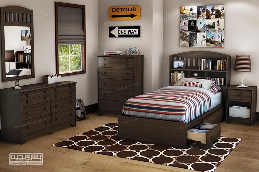 عکس اتاق خواب پسرانه جوان