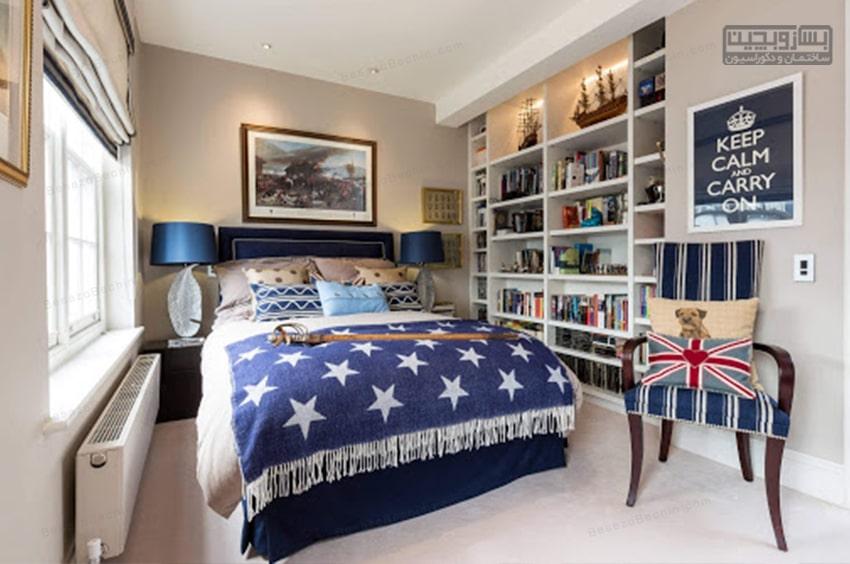 اتاق خواب جوان ساده