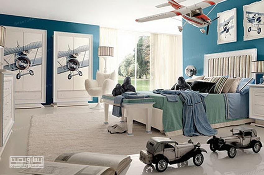 تزیین اتاق پسرانه با وسایل ساده