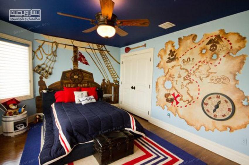 دکوراسیون داخلی اتاق خواب پسرانه ساده