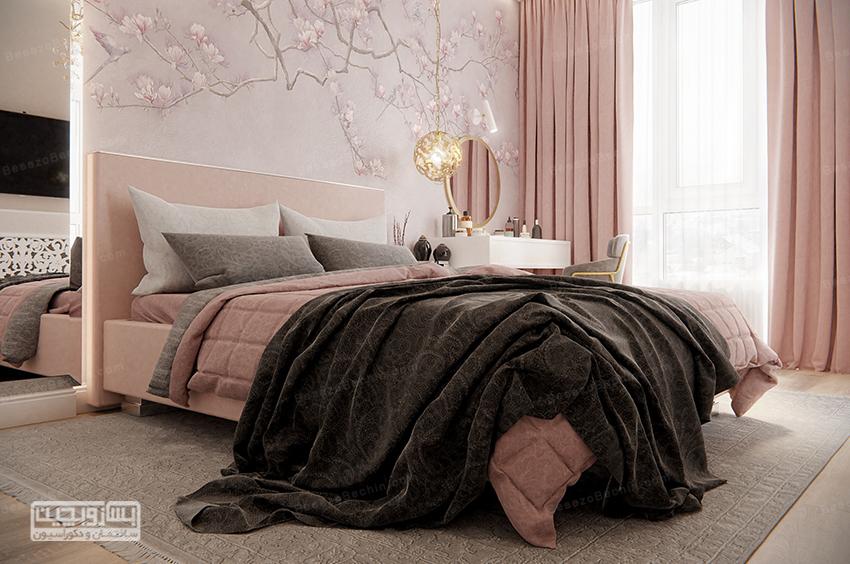 رنگ صورتی اتاق خواب