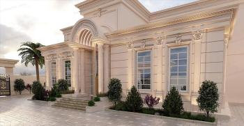 انواع نمای رومی ساختمان دوطبقه (نمای رومی شیک ساختمان 2 طبقه)