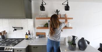 شلف آشپزخانه: انواع مدل شلف جدید آشپزخانه (دیواری، باکس، مدرن)