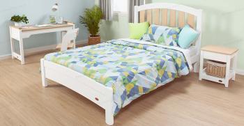 مدلهای تخت خواب دونفره ام دی اف سفید جدید 2021 [ساده و شیک]